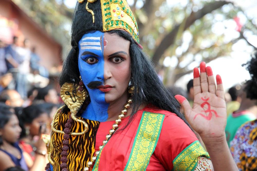 Novoroční karneval - Cochin, Kerala, Indie