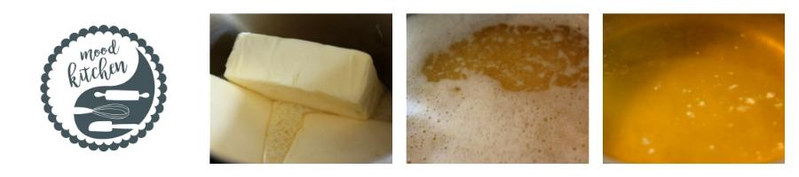GHÍ NEBOLI PŘEPUŠTĚNÉ MÁSLO  -  Potřebujeme: 3 kostky kvalitního másla a špetku trpělivosti.
